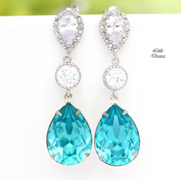 Blue Dangle Earrings TQ-31