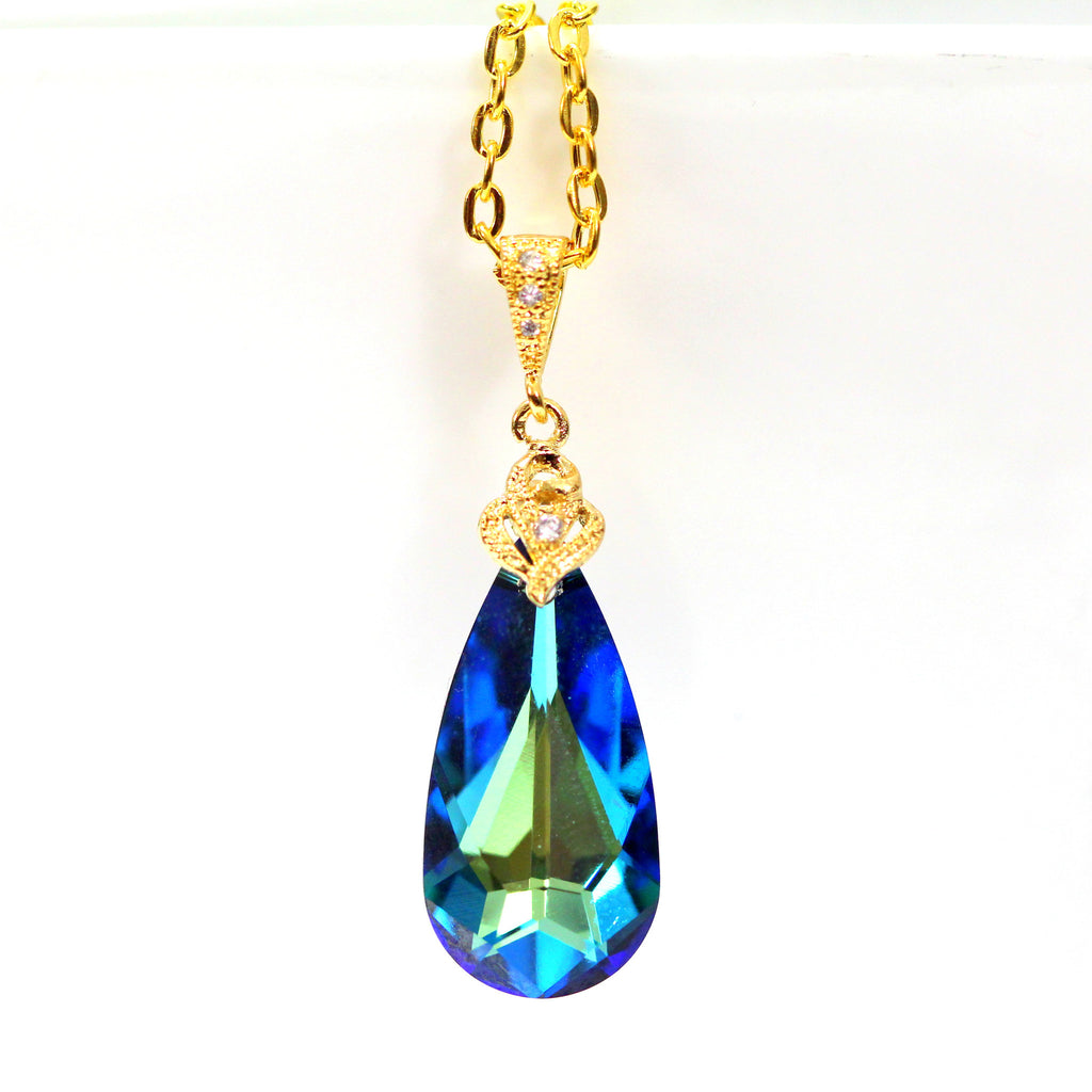 Blue Gold Necklace BB-33