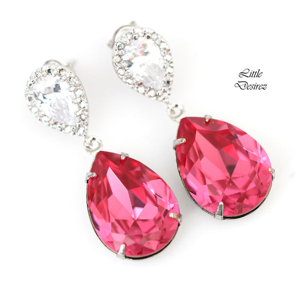 Bright Pink Earrings RP-31