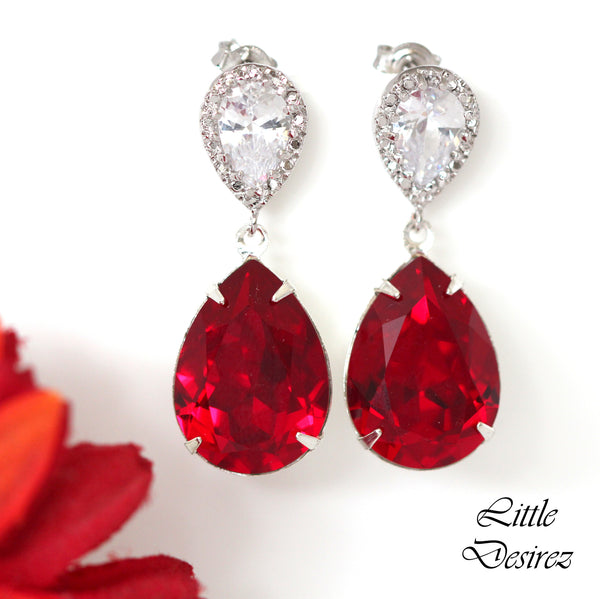 Dark Red Jewelry Set SI-31