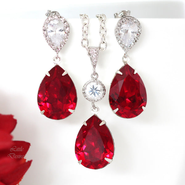 Red Holiday Earrings SI-31