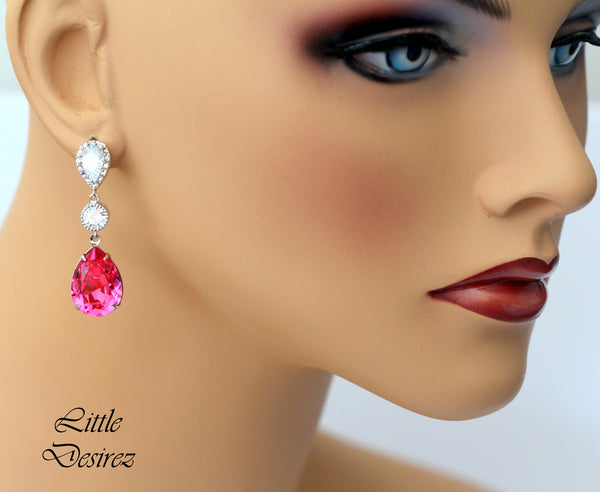 Long Pink Earrings RP-31
