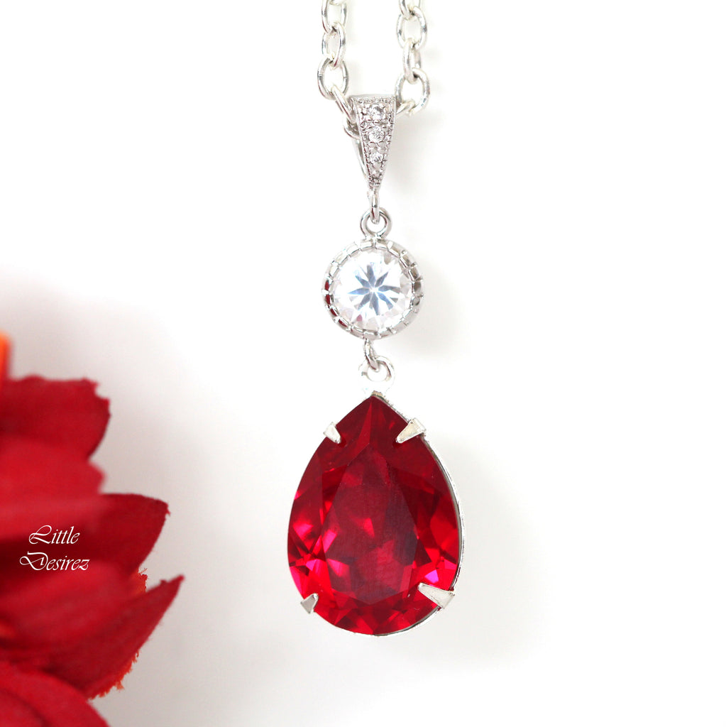 Red Swarovski Necklace SI-31