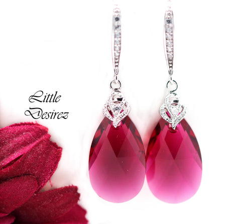 Dangle Fuchsia Earrings RP-32