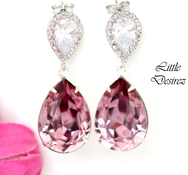 Pink Crystal Earrings BP-31