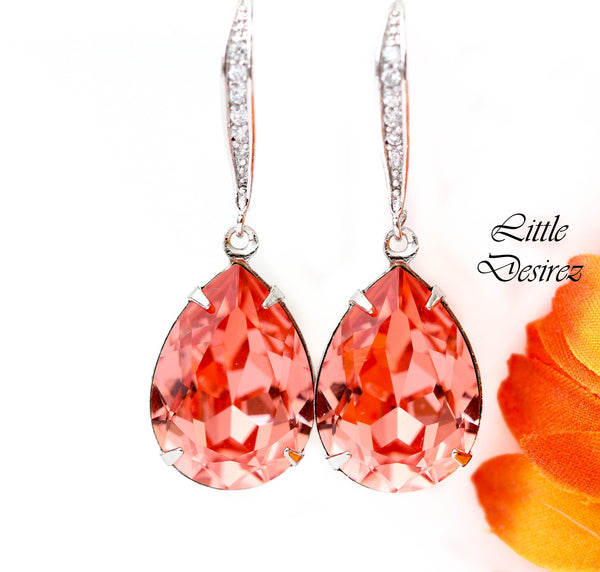 Coral Drop Earrings CO-31