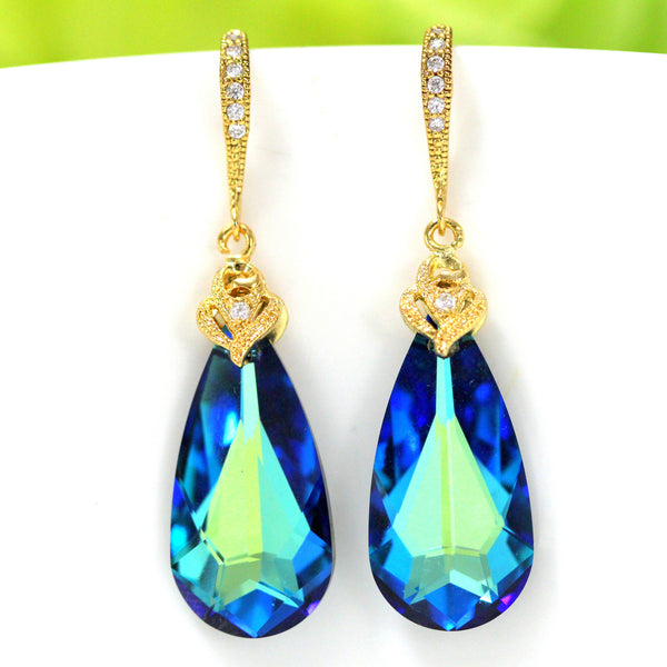 Blue Gold Earrings BB-33
