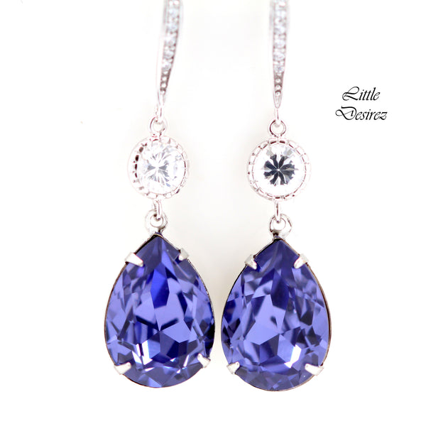 Purple Chandelier Earrings TZ-31