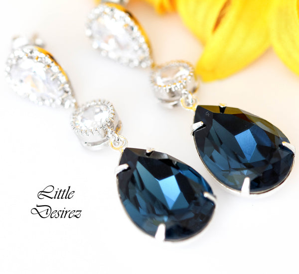 Navy Blue Earrings MO-31