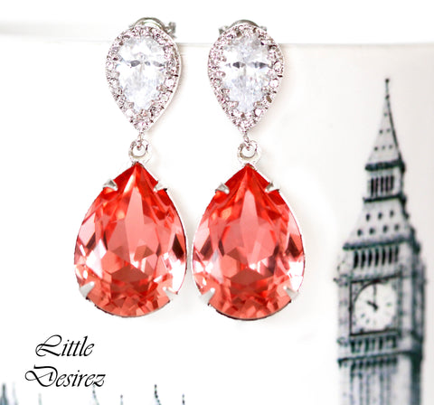 Coral Bridesmaid Earrings CO-31