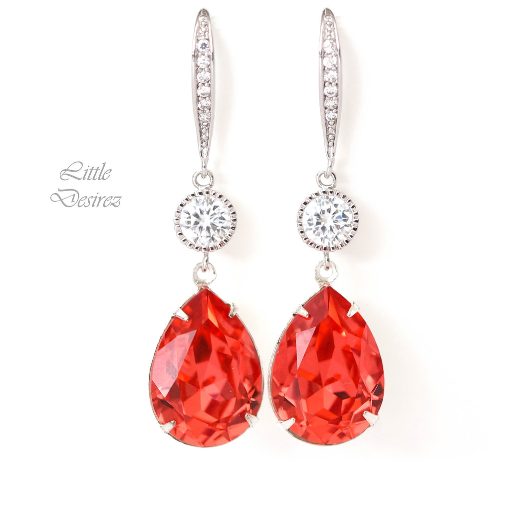 Long Crystal Earrings PAD-31