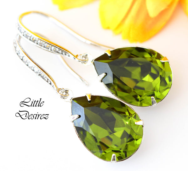 Olive Green Earrings OG-31