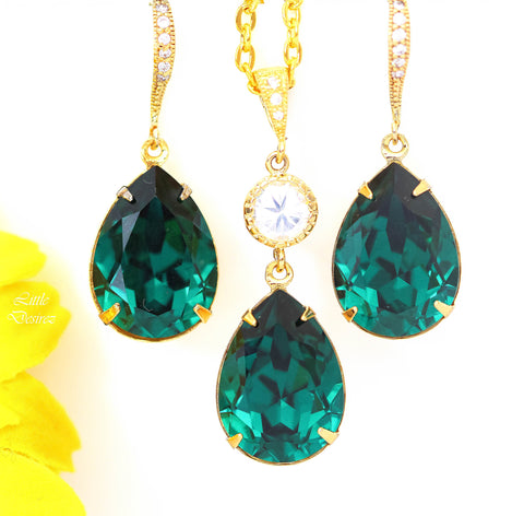 Crystal and Gold Jewelery Set EM-31