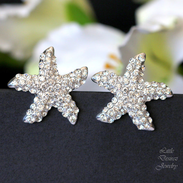 Crystal Starfish Earrings Stud Earrings KAI