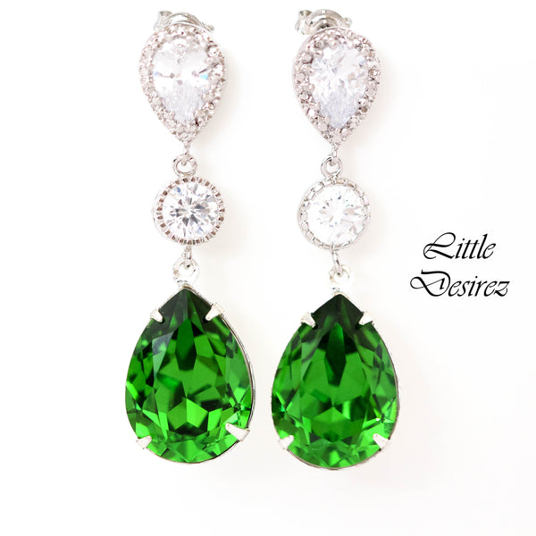 CZ Crystal Earrings FG-31