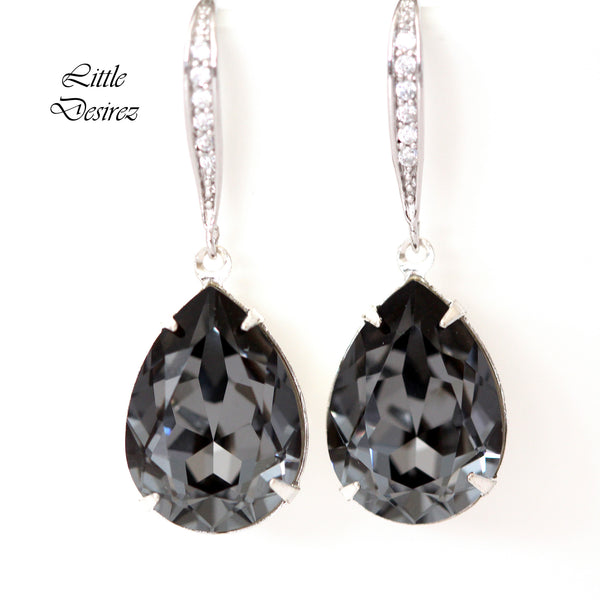 Charcoal Grey Earrings SN-31