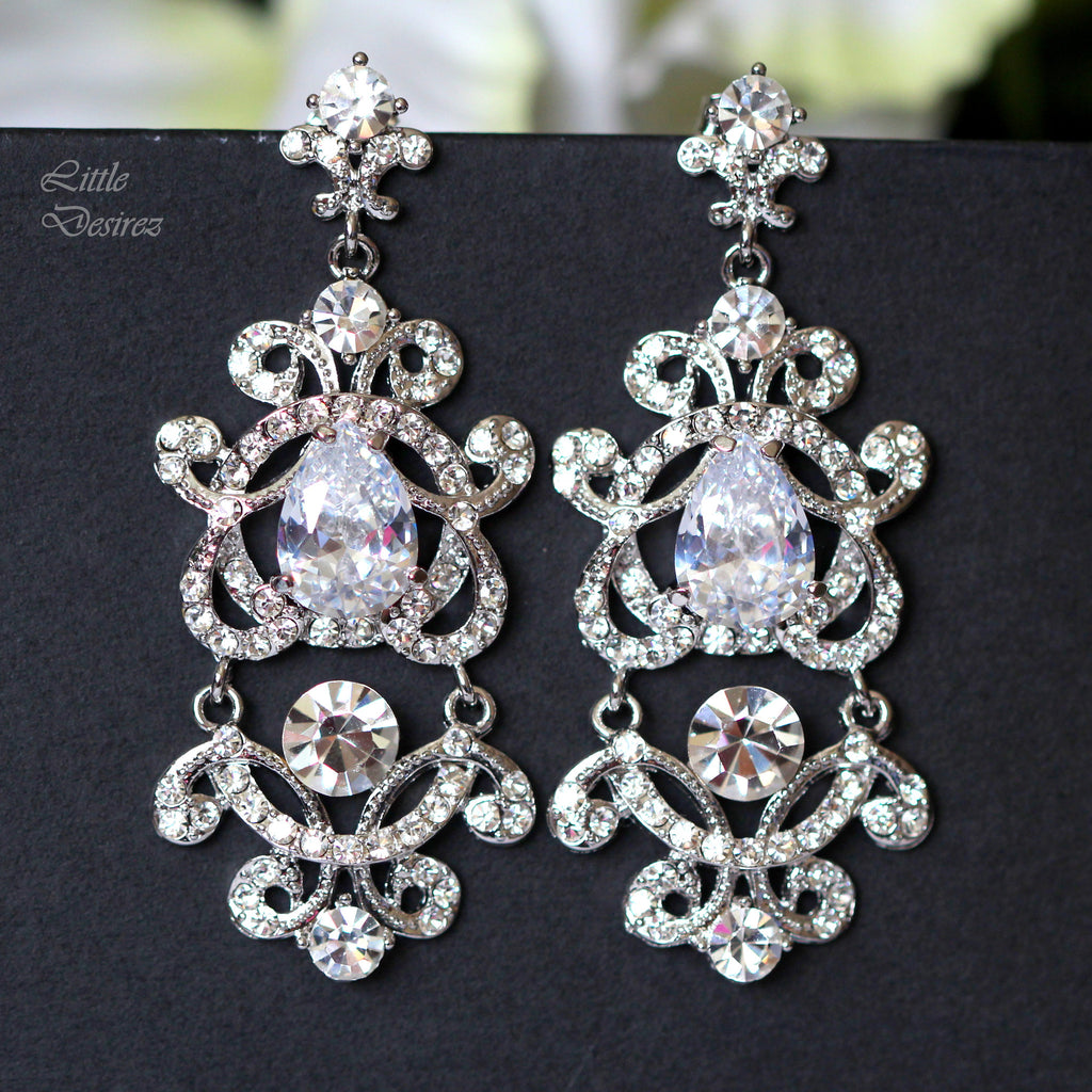 Bridal Chandelier Earrings MAYA