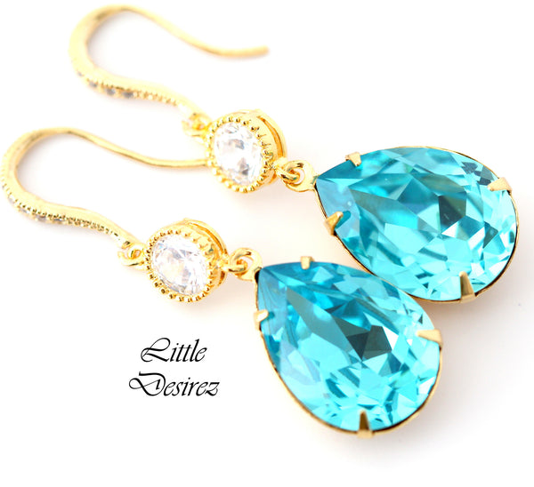 Blue Bridal Earrings TQ-31-HC