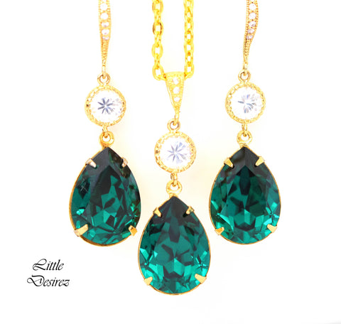 Dark Green Jewelry Set EM-31
