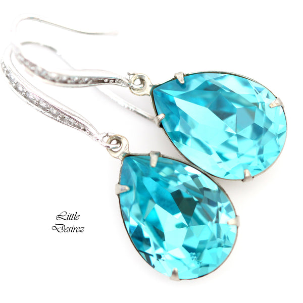 Turquoise Swarovski Earrings TQ-31