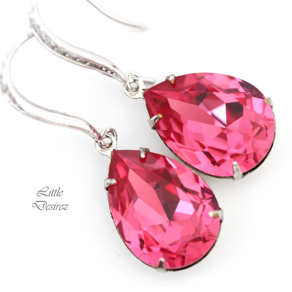 Pink Crystal Earrings RP-31