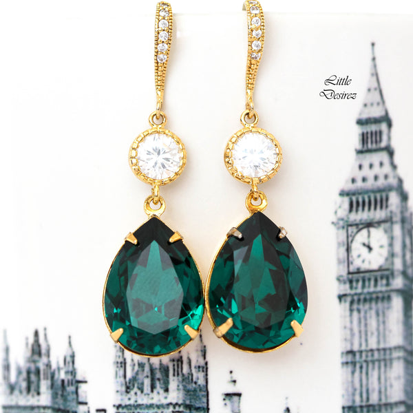 Green Bridesmaid Earrings EM-31
