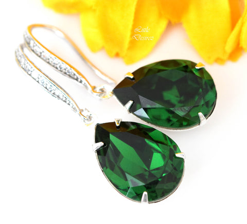 Dark Green Earrings DM-31