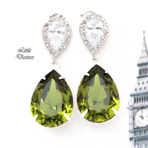 Green Crystal Earrings OG-31