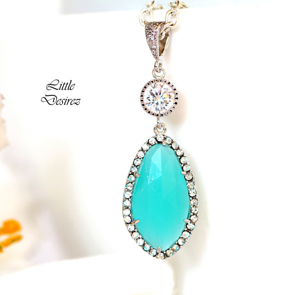 Mint Green Necklace MT-40