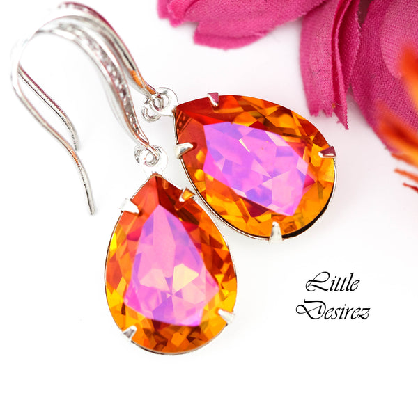 Orange Pink Earrings AP-31