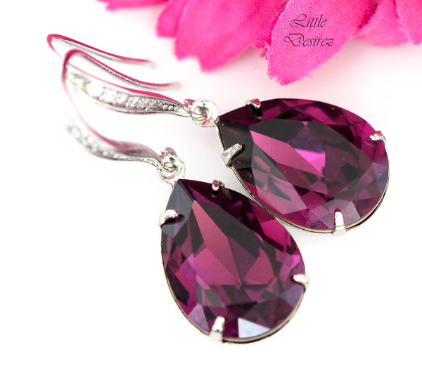 Amethyst Purple Earrings AM-31