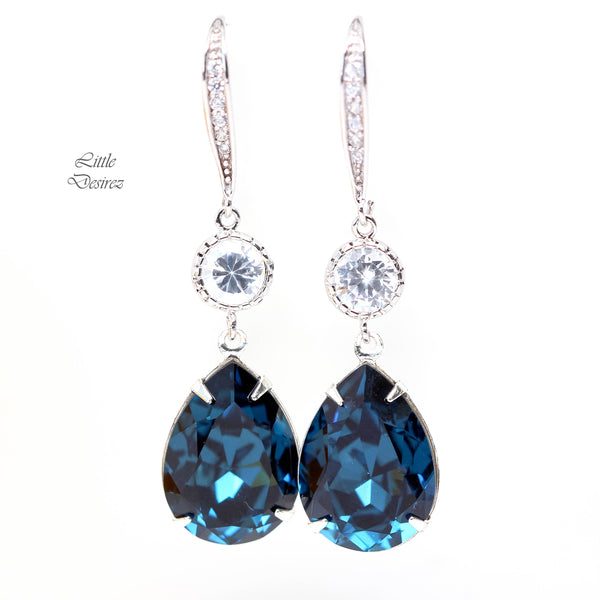 Blue Navy Earrings MO-31-HC