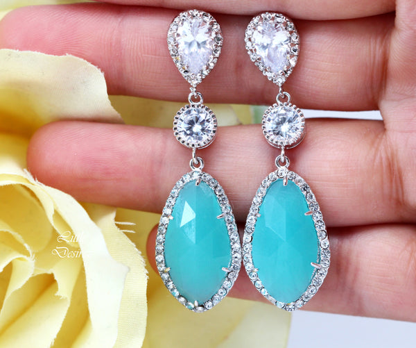 Mint Green Jewelry Bridesmaid Gift MT-40