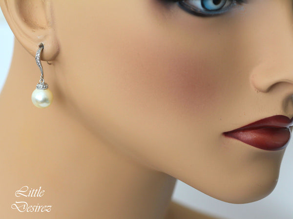Swarovski Cream Pearl Earrings P44