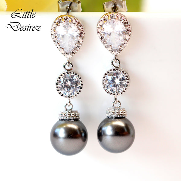 Grey Pearl Earrings P44