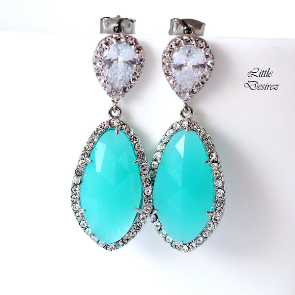 Mint Green Earrings MT-40