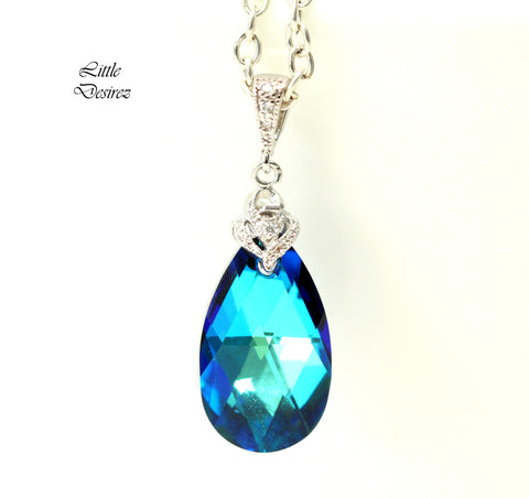 Blue Bridal Necklace BB-32