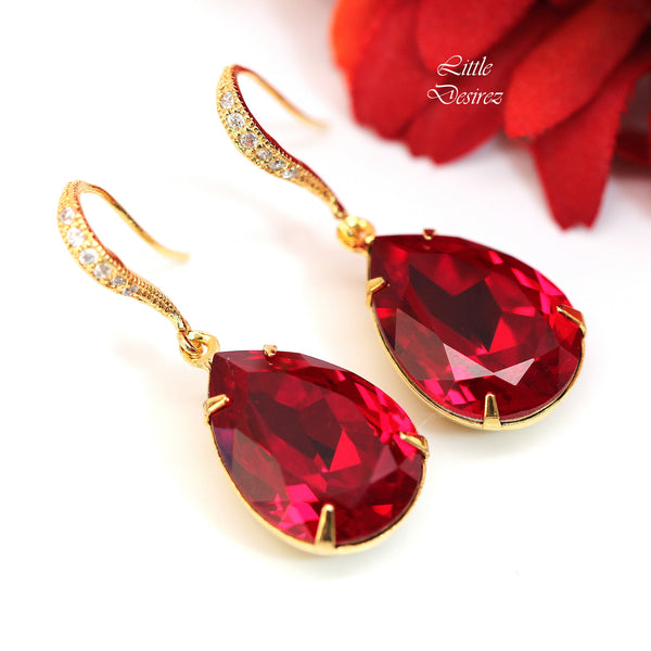 Red Dangle Earrings SI-31