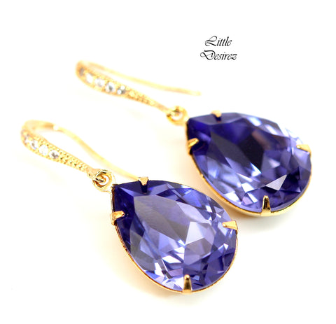 Gold and Purple Earrings TZ-31