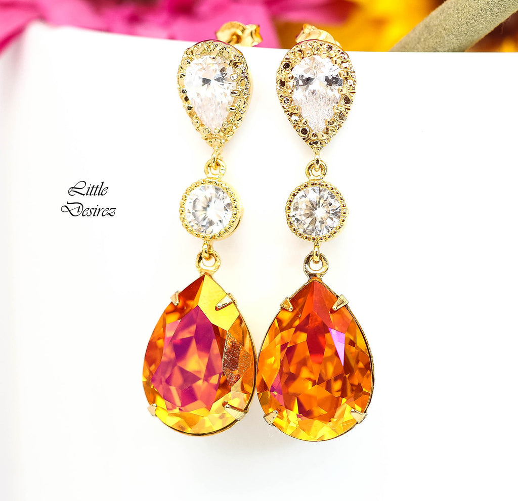 Orange and Pink Earrings AP-31