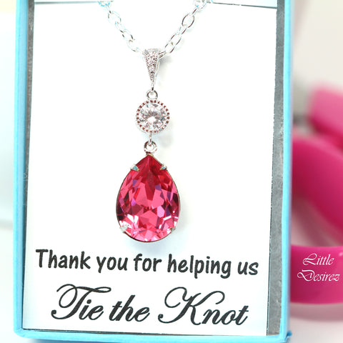 Fuchsia Pink Necklace RP-31