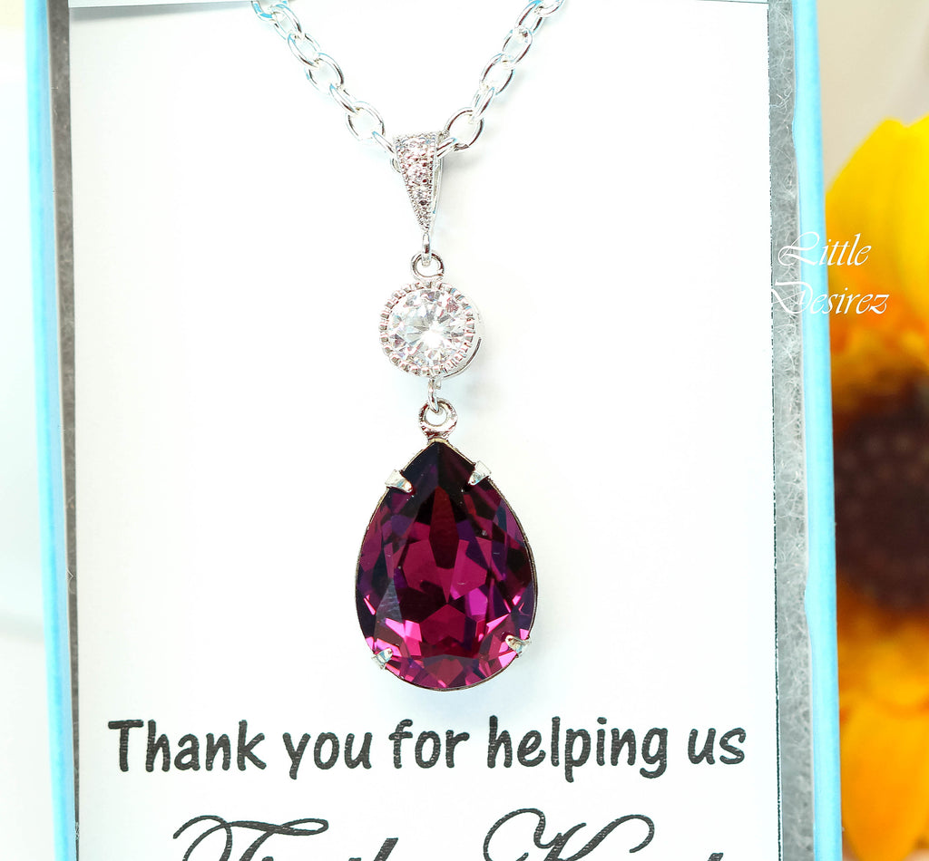 Purple Crystal Necklace AM-31