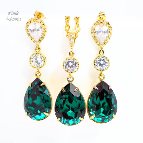 Emerald Jewelry Set EM-31