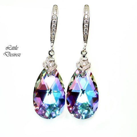 Pink and Purple Earrings VL-32