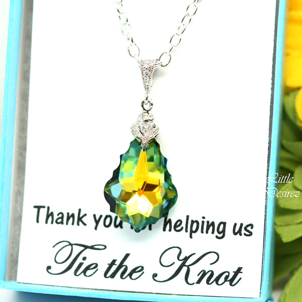 Swarovski Necklace Green Yellow Necklace SA-30