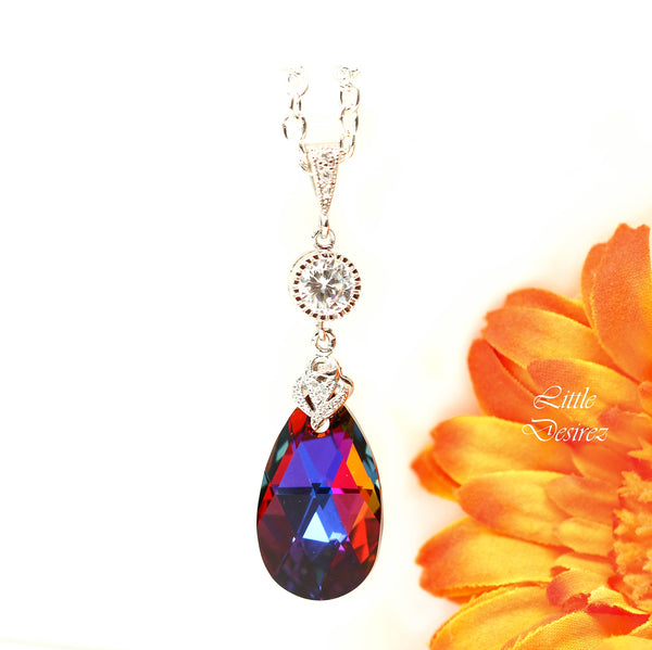 Swarovski Crystal Necklace Volcano Crystal VO-32