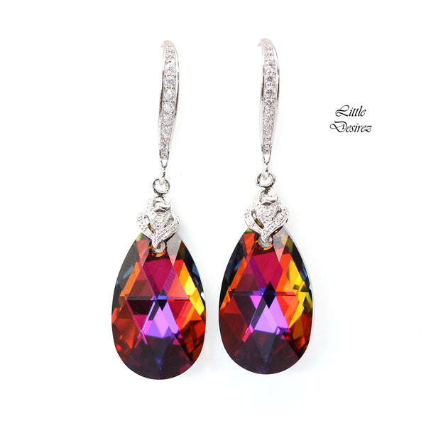 Swarovski Earrings Volcano Crystal VO-32