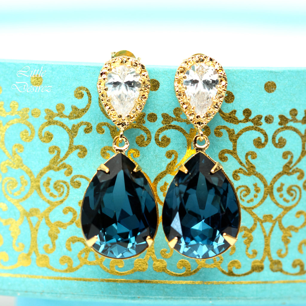 Gold Crystal Earrings MO-31