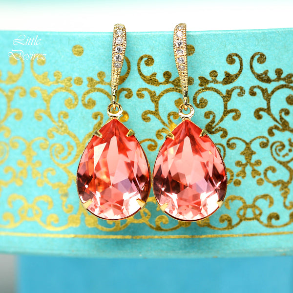 Coral Gold Earrings CO-31
