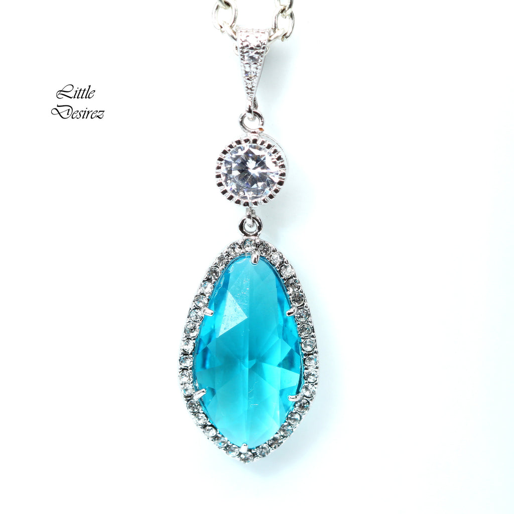 Blue Crystal Necklace TB-40